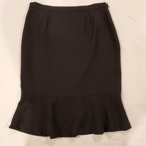 Dolce and Gabbana Black Wool Trumpet Skirt